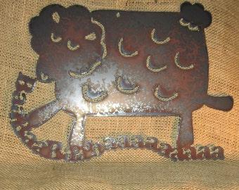 Baaaaaa-Metal Art Sheep