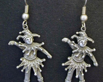Sterling Silver Jester Earrings on Sterling Silver French Wires