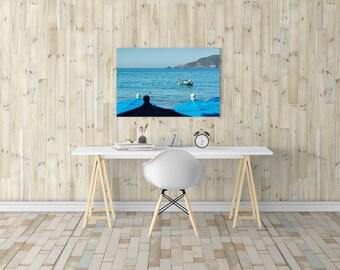 Pelican Decor, Pelican Wall Art, Pelican Print, Ocean Print, Bird Print, Coastal Canvas Art, Photography Print, Travel Print, Nature Print