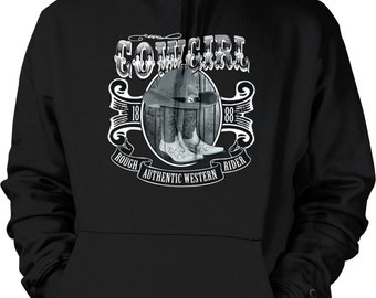 Cowgirl, Authentic Western 1888 Hooded Sweatshirt, NOFO_00456