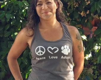 Peace Love Adopt tank