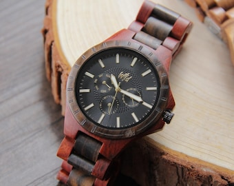 Wooden watche, Wood Watch, Fathers Day Gift, Boyfriend Gift, Mens watches, Groomsmen gift, Husband Gift, Anniversary Gift, engraved, TN20