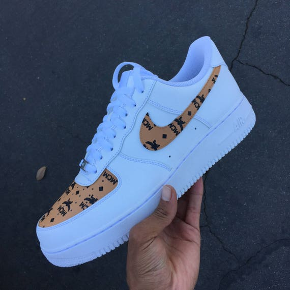 cd301d1fc64 ... Custom Nike Air Force 1 - MCM Monogram Print ...