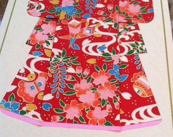 Handmade Origami Kimono Card