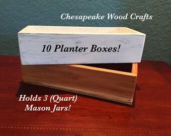 Bulk of 10 Planter Boxes, Wedding Decor, Wedding Centerpiece, Rustic Wedding Decor, Rustic Planter Boxes, Rustic Centerpiece, Planter Box