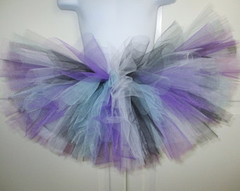 Black, Purple and Light Blue Tutu - Other Colors Available