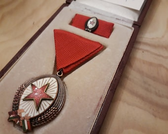 Order of Labor 3rd Class (Bronze Class) - old Hungarian communist / socialist merit from 1988