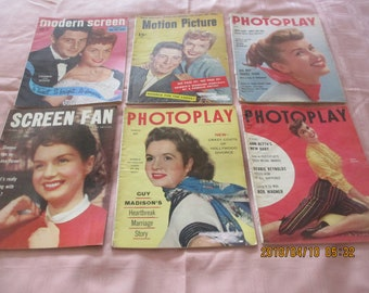 1954-55 Photoplay, Screen Fan, Motion Picture, and Modern Screen Magazines