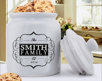Personalized Cookie Jar -  Personalized Ceramic Cookie Jar - Personalized Treat Jar - Gifts for Mom - Gifts for her - GC1077 CLASSIC