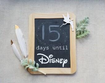 Hand Painted Disney Countdown Slate Chalkboard