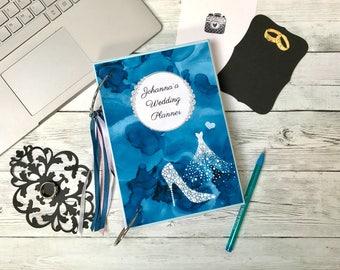 Personalised wedding organizer, Custom wedding planner book, Wedding journal, Engagement gift, Gift for daughter, Bridal diary, Notebook