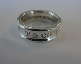 Vintage Tiffany & Co Sterling Silver 1837 Band Ring