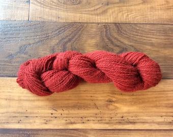 Yarn- Alpaca/Wool Blend 80/20 - 3 ply Worsted- 150 Yards- Lanaset Red G