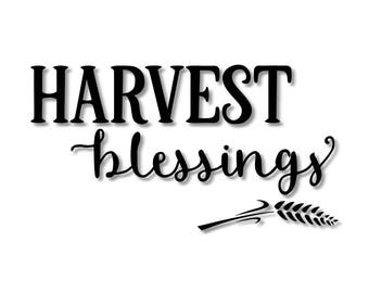 Harvest Blessings Fall Stencil // wood sign // wall decor // painting // craft