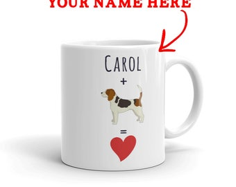 Beagle Gift - Personalized Beagle Mug - Custom Name Gift For Beagle Lovers - Beagle Mom - Beagle Dad - Dog Lover Gift