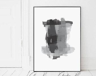 Grey Abstract, Gray Abstract, Abstract Art, Abstract Painting, Digital Painting, Modern Abstract, Grey Brush, Grey Brush Strokes, Brush Art