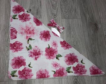 Watercolor Floral Swaddle Blanket