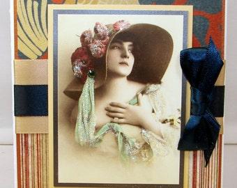 Catherine de Avonlee, ensemble de 6 cartes de correspondance, enveloppes importées italiens Ivoire et coordination atteint inclus
