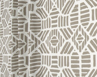 Contemporary Gray Outdoor Fabric by the Yard Designer Indoor Outdoor Home Decor Fabric Curtain Fabric Cushions Upholstery Fabric Tribal C717