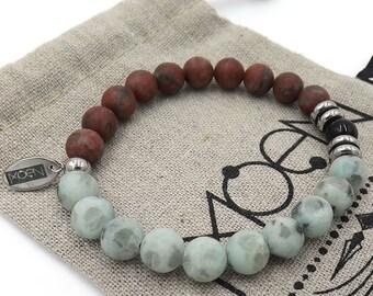MOEN Elua/Jade sesame and Black Stone bracelet