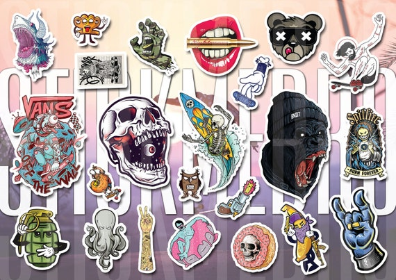 Vans 62 skate stickers set love and dave horror story decals vinyl tumblr waterproof sticker from stickystoreart on etsy studio