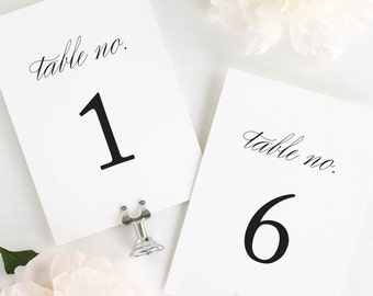 Classic Urban Table Numbers - 4x6""