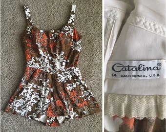 Vintage Catalina One Piece Swimsuit