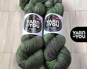 Hand Dyed Sock Yarn Superwash Merino - Yarntoyou  - SOCK MERINO - Seaweeds