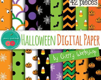 Halloween Digital Paper Set