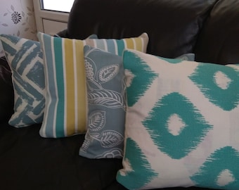 set of 4 coordinating cushion covers