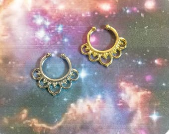Faux Septum Ring, faux nose ring, nose ring, septum jewelry, septum ring