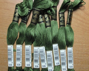Lot of 4 Skeins DMC Floss # 936