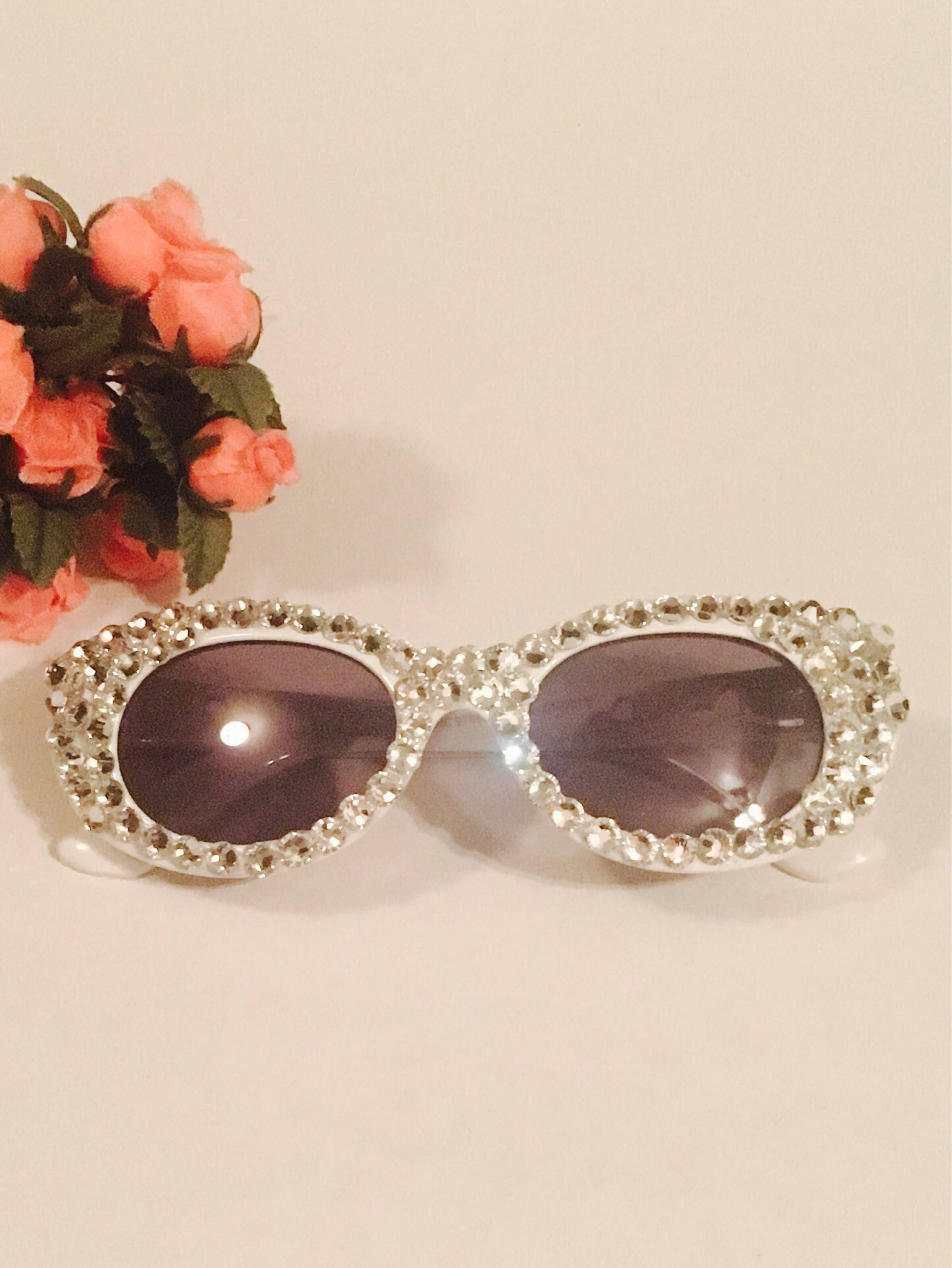 Little Girl Crystal Sunglassesbaby Sunglassesblinged Out # Muebles Sunnies