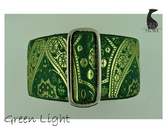 Green Light (Luxury Martingale Dog Collar - Greyhound collar | Galgo collar)