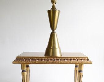 Vintage Mid Century Brass Hourglass Table Lamp Atomic Ranch Decor Atomic Era Lamp 1960s Table Lamp MOD Lamp MCM Lamp