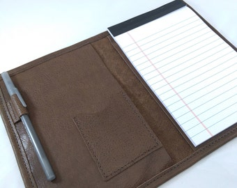 REFILLABLE Leather Notebook Journal Cover 5 x 8 inch