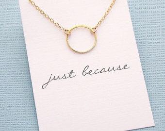 Layering Necklace | Eternity Necklace, Boho Jewelry, Dainty Minimalist Jewelry, Wife Birthday, Valentines Gift | Silver, Rosegold, Gold |X05