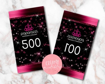 Paparazzi numbers, Paparazzi Jewelry live sale numbers, Normal-Mirrored number tags, 001-500, Printable PDF, Glitter