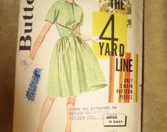 Butterick Pattern 2167 Dress Sewing 50s 60s Vintage