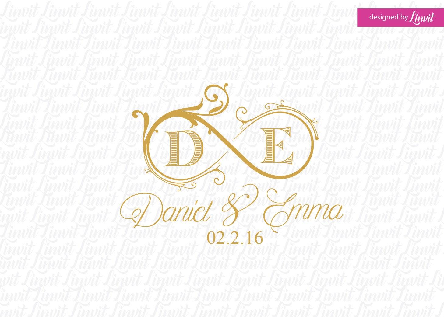 Initial Wedding Invitations: Infinity Wedding Monogram-wedding Logo-wedding Crest-custom