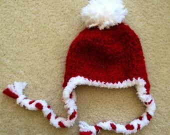Candy Stripes Santa Hat (NB-12M)