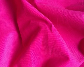 Bright Pink Needlecord - perfect for pinafores, dungarees, trousers and skirts - dressmaking and sewing
