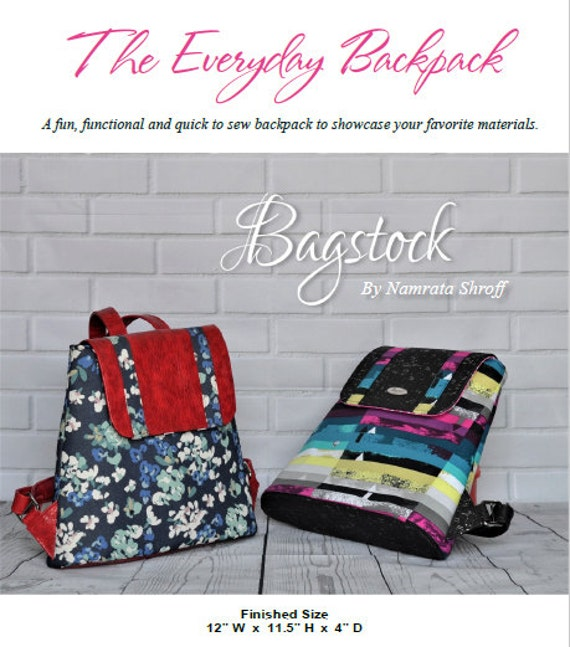 The Everyday Backpack Bagstock Designs PDF sewing pattern