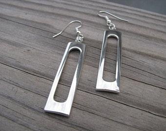 Silver Earrings- Long