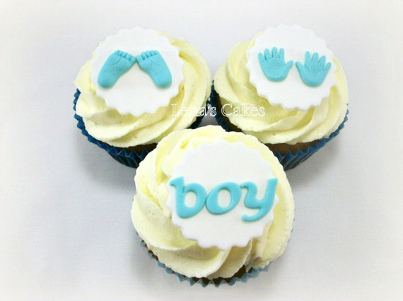 Baby Fondant Cupcake Edible Toppers Baby Feet Baby Hands