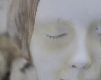 BOGO Sale L'Inconnue de la Seine Close Up Signed Fine Art Photograph Size 7 by 9.5