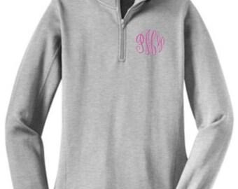 Monogram Shirt, Pullover Sweatshirt, Monogram Sweatshirt, Monogrammed Sweatshirt, Monogram Shirts, Zip Sweatshirt, Half Zip Shirt, Gift Idea