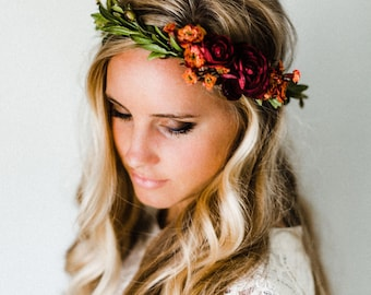 Rustic Fall Flower Crown
