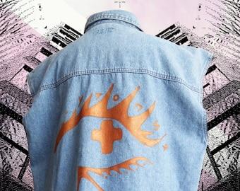 Hand-painted EYE See Утопия Vest
