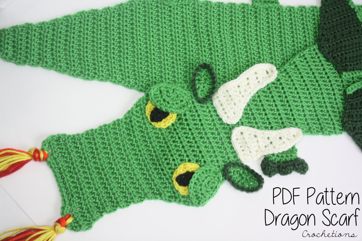 Crochet PATTERN Dragon Scarf / Dragon Lovers Majestic